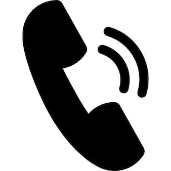 Anruf Ohr Symbol mit Ton Linien