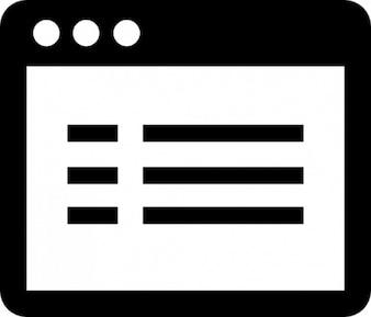 Anwendungsfenster mit text