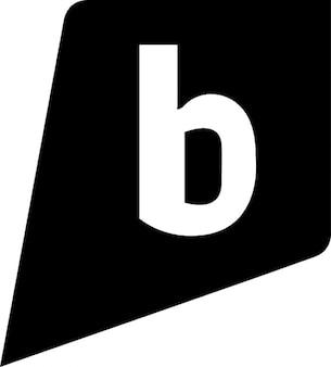 B icon schwarz
