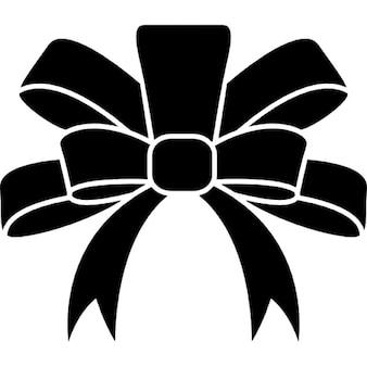Band-Schwarz-elegante Form für einem Weihnachtsgeschenk