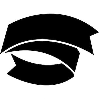 Band schwarz Textilbanner
