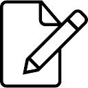 Bearbeiten Sie ein Dokument-Schnittstelle Symbol der Schlaganfall