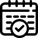 Bestätigen Zeitplan