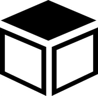 Box mit dunkler spitze