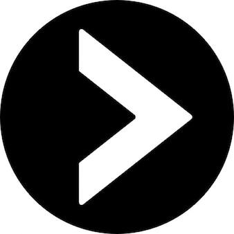 Dreieck punkt nach rechts in einem kreis