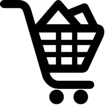 Füllen warenkorb. online shoping