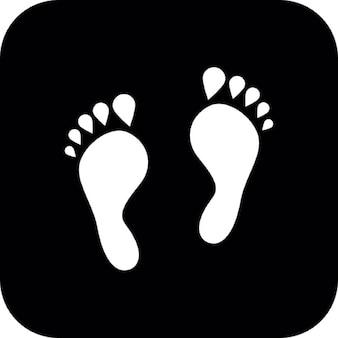 Fuß weiße Flecken auf schwarzem Hintergrund
