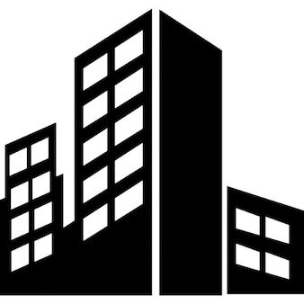 Gebäude in der Stadt-Silhouette