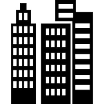 Gebäuden und Wolkenkratzern