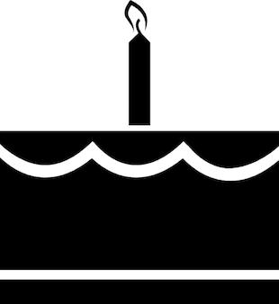 Geburtstagskuchen mit einer kerze Kostenlose Icons