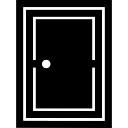 geschlossen gef llt rechteckige t r download der kostenlosen icons. Black Bedroom Furniture Sets. Home Design Ideas