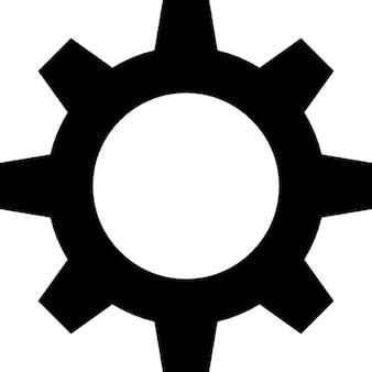 Getriebe schwarze Form
