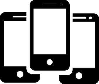 Gruppe von iphones