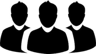 Gruppe von menschen. avatare