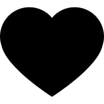 Herz schwarz Form für Valentinstag