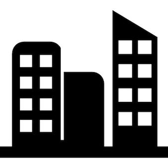Hohe Gebäude in einer Stadt