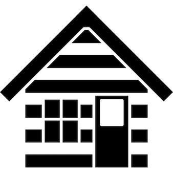 Kabine Haus Umriss