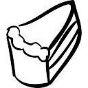 Kuchen Hand Gezeichnet Dreieckiges Stuck Download Der Kostenlosen