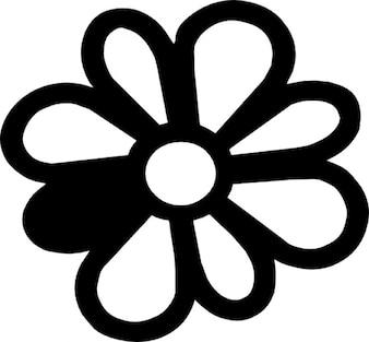 Margerite mit blütenblatt in anderer farbe