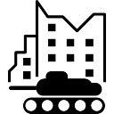 Militar Tank in der Stadtstraße
