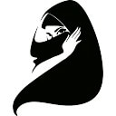 Moslemische Frau mit Hijab