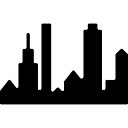 New York Panorama-Gebäude-Silhouette