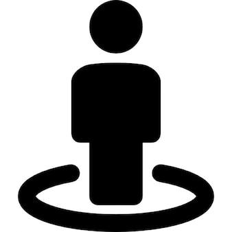 Person der blick auf die straße symbol