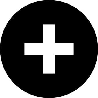 Plus-symbol in einem kreis. schaltfläche hinzufügen