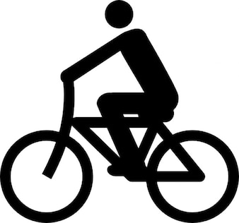 Radfahrer symbol