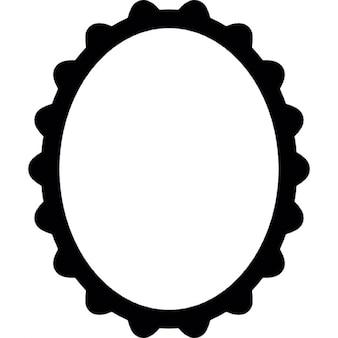 Rahmen der ovalen Form und Vintage-Stil