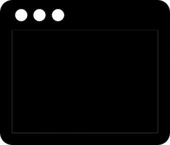 Schwarze klemme computer