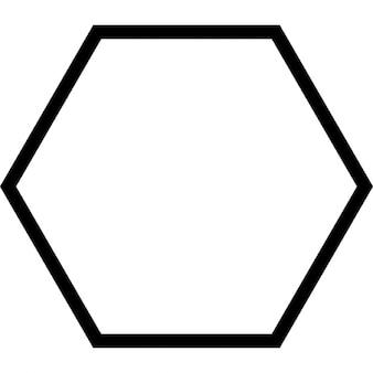 Sechs geometrische Form Umriss