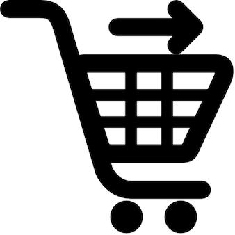 Senden warenkorb. online-shopping