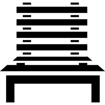 Städtischen Straßenmöbel Holzstuhl
