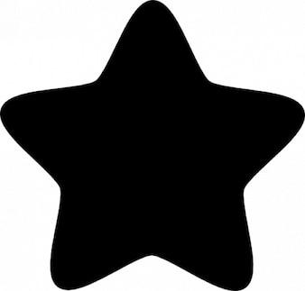 Stern mit fünf punkten abgerundeten