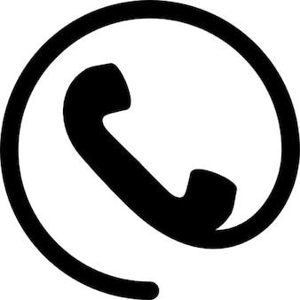 Telefon Ohr mit Kabel