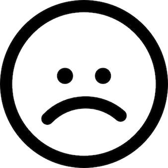 Trauriges Gesicht