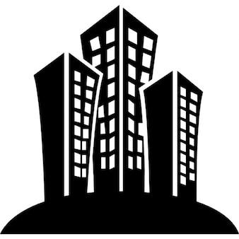 Von Gebäuden in einer Stadt