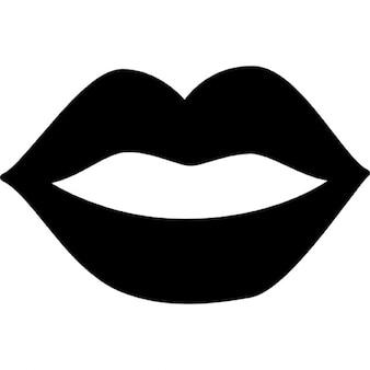 Weibliche Mund Lippen