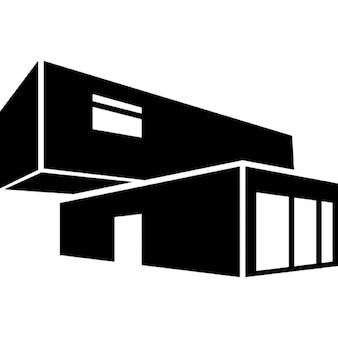 Wirtschaftsarchitektur Gebäude aus gestapelten Containern