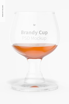 1,7 oz glasbrandy cup mockup, vorderansicht