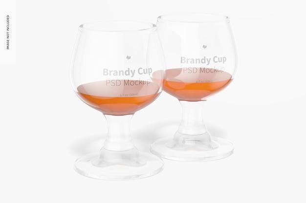 1,7 oz glasbrandy cups mockup, vorderansicht