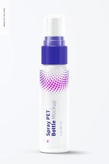 1 unze spray pet bottle mockup