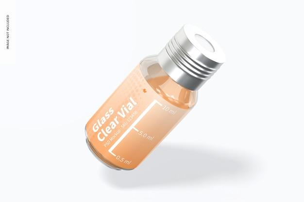 10 ml glasklares fläschchenmodell, angelehnt