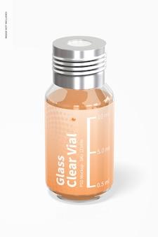 10-ml-glasklares fläschchenmodell, vorderansicht
