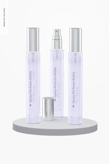 10 ml spray-parfümflaschen-set mockup