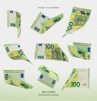 100 euro banknoten geld 3d rendern