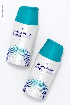 100 ml airless pump bottle mockup, draufsicht