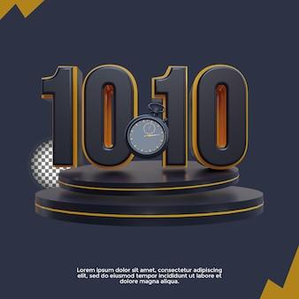 1010 banner-vorlage mit 3d-rendering-illustration