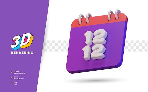12.12 einkaufstag rabatt große verkaufsförderung 3d-render-objekt